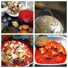 Scungilli in Hot Sauce  Follow us on Facebook for recipe:- That's Dinner Tonight, Enjoy!-goc- http://www.facebook.com/Gloriais.CookingUnderPressure