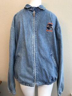 71adfafbee Chicago Bears Men s Size Large Denim Jacket Chalk Line NFL Football Vintage  USA  ChalkLine