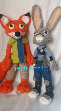 """Nick Wilde and Judy Hopps from the movie """"Zootropolis""""f"""