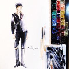 👩🏻🎨#dior #soniashao #fashionillustrations #illustration #watercolor #fashionart #artwork #illustrationfashion #best_fashion_art #drawing…