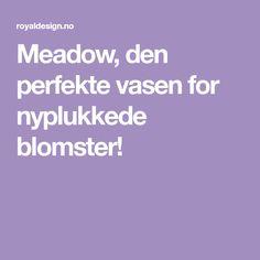 Meadow, den perfekte vasen for nyplukkede blomster! Vase, Den, Vases, Jars