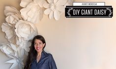 "DIY - Giant Paper Flower Backdrop ""Daisy - Margarita"" Decoracion de Fiestas"