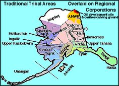 ALASKA NATIVE TRIBES -- tribal territories map and Info links