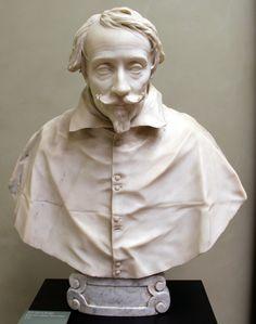 Busto del Cardenal Pietro Valier - Bernini, 1627. Seminario de Venecia, Italia; para el que fue construido originalmente. Es probable que el busto de Pedro se hizo en gran parte por Andrea Bolgi siguiente diseño de Bernini.