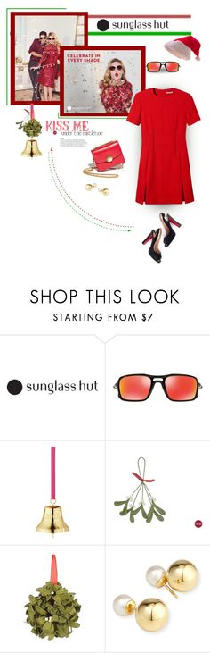 """""""Celebrate in Every Shade with Sunglass Hut: Contest Entry"""" by rosie305 ❤ liked on Polyvore featuring Christian Louboutin, Oakley, Georg Jensen, Laura Ashley, Seasonal Specialties, Yoko London, sunnies and sunglasshut"""