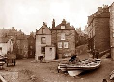 Dedicated to exploring the art and collectables of the unique east coast of England inshore fishing boat called the coble or cobble Whitby England, Yorkshire England, North Yorkshire, Old Photos, Vintage Photos, Christophe Jacrot, Robin Hoods Bay, Victorian Photos, Victorian Era