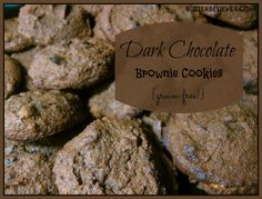 Dark chocolate brownie cookies. Grain-free, sugar-free!