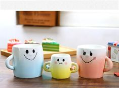 Ceramic Mug Parent Child Hand In Hand Cup Set Hand Painted Smiley Face Coffee Cup With Handgrip 2018 White Gradient Trendy Home Drinkware Make Mugs Make Personalized Coffee Mugs From Lu_fang_kitchen_ware, $11.06| Dhgate.Com Face Mug, Kitchenware, Tableware, Personalized Coffee Mugs, Kids Hands, Trendy Home, Cupping Set, Drinkware, Smiley
