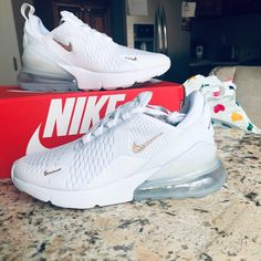 Swarovski Bling Nike Air Max 270 Shoes in Rose Gold Swarovski Crystals laura sotelo added a photo of their purchase Air Max Sneakers, Sneakers Mode, Sneakers Fashion, Fashion Shoes, Floral Sneakers, Cheap Sneakers, Shoes Sneakers, Fashion Outfits, Nike Cortez Shoes