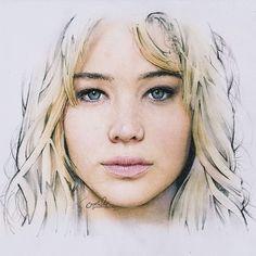 and here it is, my 2nd mandatory drawing. Jennifer Lawrence, enjoy! ✌️ - colored by digital media - #drawing #pencil #digitalcoloring #artofdrawingg #proartists #worldofartists #nawden #klinikrupadrrudolfo #causethestart