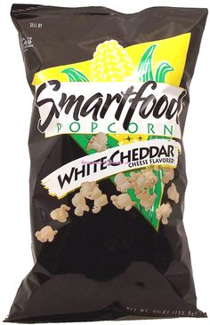 This stuff is like crack. <------ Oh, totally. Can eat a bag in one sitting. Then lick it off your fingers. White Cheddar Popcorn, Cheese Popcorn, Smartfood Popcorn, Snack Recipes, Snacks, Party Mix, Looks Yummy, Cheddar Cheese, Chips