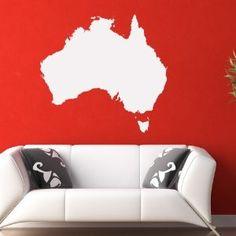 Map of Australia Wall Decal - from Amazon #wallart #walldecal #australia