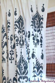 Ikat stencil drapes