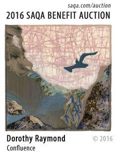 """Confluence"" - art quilt by Dorothy Raymond"