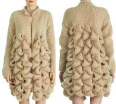 Crochet Scarf Diagram, Knit Crochet, Cardigan Fashion, Knit Fashion, Knit World, Giant Knitting, Knitting Patterns, Crochet Patterns, Shrug Cardigan