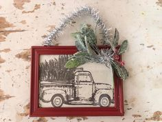DIY Framed Ornaments - The Shabby Tree How To Make Christmas Tree, Christmas Crafts For Gifts, Xmas Gifts, Craft Gifts, Christmas Decorations, Tree Crafts, Diy Crafts, Diy Frame, How To Make Bows