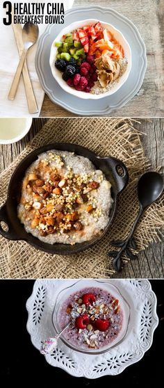 3 Healthy Chia Breakfast Bowls