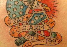 Cool Army Tattoo Design: Army Symbol Tattoo Design ~ Tattoo Design Inspiration
