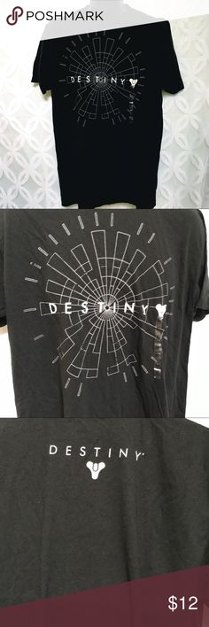 """Destiny Logo Shooter Video Game Tee Destiny Logo Shooter Video Game Tee NWT.                               Measurements Laying Flat Size 🔹XL or XXL Armpit to Armpit 24"""" 26"""" Shoulder to Hem 🔹31"""" 32"""" Bundle to Save 🤓 Sorry NO outside transactions 🚫 NO trades 🚫 Reasonable Offers welcomed 👍 NO Low balling 👎 NO modeling 👎 NO Holds👎 All items from a pet 😼and Smoke Free Home  Happy Poshing 🤗 Activision Shirts Tees - Short Sleeve"""