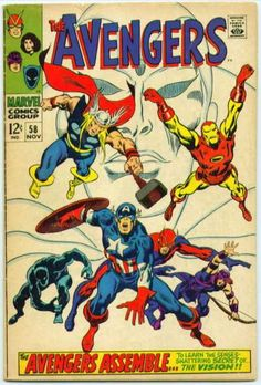 Avengers Marvel Silver Age Comics Not Signed Archie Comics, Marvel Comics, Marvel Comic Books, Comic Book Heroes, Comic Books Art, Comic Art, Marvel Characters, Thor Marvel, Marvel Heroes