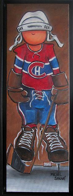 hockey Baby Painting, Tole Painting, Painting For Kids, Painting On Wood, Art For Kids, Hockey Decor, Hockey Room, Pebeo Vitrail, Painted Glass Blocks
