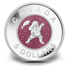 Fine Silver Coin - Mother and Baby Ice Fishing - Mintage: 6500 (2013)