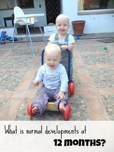 How does your baby develop? What is normal at 12 months?