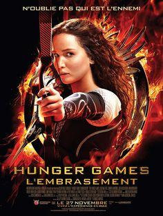 Hunger Games - L'Embrasement - Affiche France avec Jennifer Lawrence