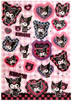 Sanrio My Melody Kuromi Plaid Sticker Sheet