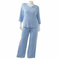 Croft and Barrow Knit Crossover Pajama Set - Women's Plus