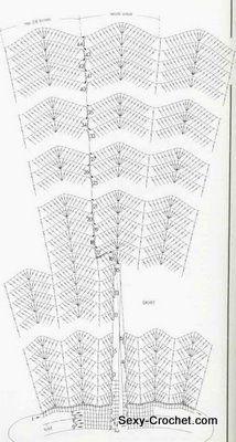 Узоры для юбок с расширениями   45 фотографий