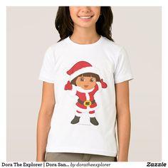 Dora The Explorer   Dora Santa. Producto disponible en tienda Zazzle. Vestuario, moda. Product available in Zazzle store. Fashion wardrobe. Regalos, Gifts. #camiseta #tshirt