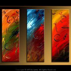 """In Motion"" - Original Abstract Art by Lena Karpinsky, http://www.artbylena.com/original-painting/342/in-motion.html"