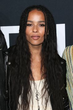 Zoe Kravitz Long Partially Braided - Zoe Kravitz wore her hair braided at the top and wavy do. Zoe Kravitz Long Partially Braided - Zoe Kravitz wore her hair braided at the top and wavy down the . Box Braids Hairstyles, Half Braided Hairstyles, Try On Hairstyles, Dreadlock Hairstyles, Hairstyle Ideas, Hair Ideas, Wedding Hairstyles, Hair Lights, Light Hair