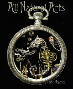 Artist Uses Old Watch Parts To Craft Tiny Intricate Steampunk Sculptures in art graphics with watch Upcycled Steampunk Sculptures Miniature