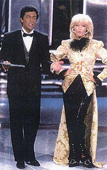 W le donne Amanda Lear Andrea Giordana venerdi sera rete 4 1984-86