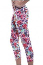 Bouquet Capri  Leggings/ Yoga Pants