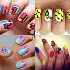 Pop-Art-Nails Pop Art Nails, Nail Pops, Nail Polish Designs, Nail Designs, Cute Nails, My Nails, Nails 2017, Paws And Claws, I Feel Pretty