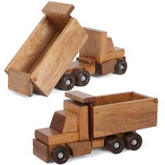 Handmade Maple Large Dump Truck This is one big, solid working wood dump truck. Ready for years of heavy duty construction fun. Quality Amish handmade craftsmanship make this perfect for play and disp