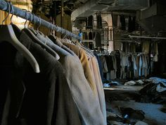 It's amazing how factories can be abandoned...and sit decaying for decades.  Lebow Clothing factory - Baltimore. Welcome to the Coats by mrscaptainmonkeypants, via Flickr