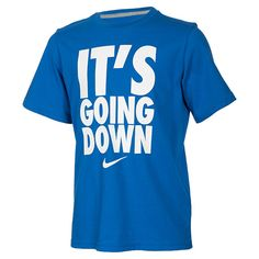 Boys' Nike It's Going Down T-Shirt | FinishLine.com | Game Royal/White