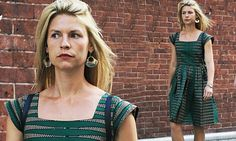 Claire Danes  steps out looking summertime chic in patterned frock