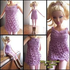 Crochet Barbie Doll Clothes Patterns | Crochet Barbie...... I like this in a me size. :)
