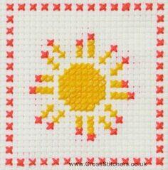 Sun - Bigger Fun Beginners Cross Stitch Kit from Daisy Designs. This