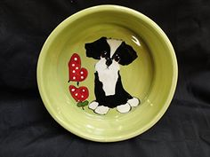 Dog Bowl  Shih Tzu 8 Ceramic Dog Bowls for Food or Water Personalized at no Charge Signed by Artist Debby Carman ** Visit the image link more details.