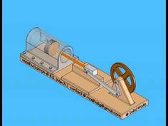 Crank and slider mechanism---It is modification of a four bar chain. It consist of three turning pair and a sliding pair. It converts rotary motion to recipr. Mechanical Engineering Projects, Homemade Machine, Young Engineers, Magnetic Motor, 3d Cad Models, Power Wheels, Paper Birds, Play Equipment, Wind Power