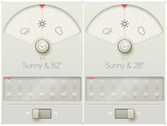 David Elgena created this Braun Dieter Rams inspired weather iphone app  called Wthr 32f6f2d5d4e7c