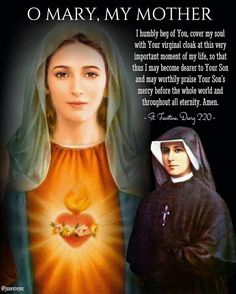 Blessed Mother Mary, Divine Mother, Holy Mary Prayer, St Faustina Kowalska, Miracle Prayer, Strong Faith, Gods Timing, Divine Mercy, Hail Mary