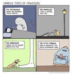 Various Types of Monsters