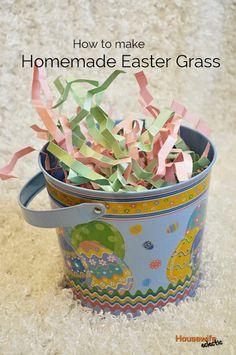 How to make Homemade Easter Grass